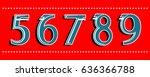 the numbers set from 56789.... | Shutterstock .eps vector #636366788