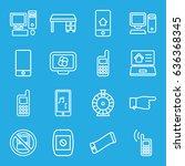 screen icons set. set of 16... | Shutterstock .eps vector #636368345