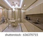 interior of a luxurious light... | Shutterstock . vector #636370715