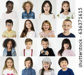 People Set Diversity Kids Playful - Fine Art prints