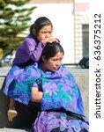 cristobal de las casas  mexico  ... | Shutterstock . vector #636375212