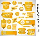 origami vintage labels set...   Shutterstock .eps vector #636375722