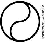 yin yang vector icon | Shutterstock .eps vector #636385355