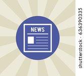 newspaper icon. sign design....   Shutterstock .eps vector #636390335