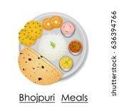 vector illustration of plate... | Shutterstock .eps vector #636394766