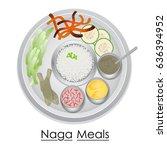 vector illustration of plate... | Shutterstock .eps vector #636394952