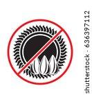 sunflower not allowed black... | Shutterstock .eps vector #636397112