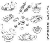 vector sketch collection of... | Shutterstock .eps vector #63639748