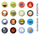 cooking icons | Shutterstock .eps vector #636402476