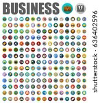 business icons | Shutterstock .eps vector #636402596