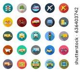 transport icons   Shutterstock .eps vector #636403742