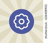 flower. icon. sign design....