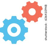 cogs vector icon | Shutterstock .eps vector #636410948