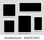 vector photo frames set mockup... | Shutterstock .eps vector #636421562