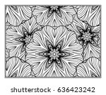 vector abstract pattern page... | Shutterstock .eps vector #636423242