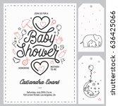 baby shower invitation... | Shutterstock .eps vector #636425066