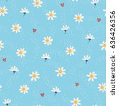 seamless pattern with flowers... | Shutterstock .eps vector #636426356