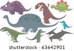 colorful dinosaur collection of ... | Shutterstock .eps vector #63642901