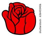 red rose isolated on white... | Shutterstock .eps vector #636433406