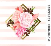 elegance flowers bouquet of... | Shutterstock .eps vector #636433898