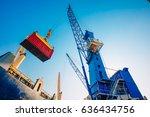 business logistics concept...   Shutterstock . vector #636434756