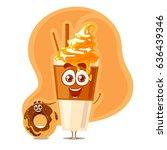 vector fanny characters of... | Shutterstock .eps vector #636439346