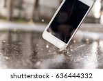 phone hitting the street  | Shutterstock . vector #636444332