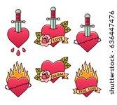 Traditional Tattoo Set. Classi...