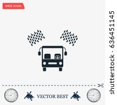 car wash vector icon. | Shutterstock .eps vector #636451145