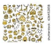 ethnic design elements sketch.... | Shutterstock .eps vector #636452858
