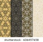 set of 4 vector seamless... | Shutterstock .eps vector #636457658
