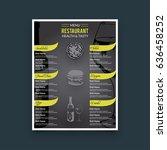 restaurant cafe menu template... | Shutterstock .eps vector #636458252
