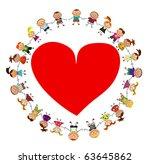 vector kids background. | Shutterstock .eps vector #63645862