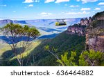 skyrail rainforest cableway... | Shutterstock . vector #636464882