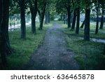 rain in the park   Shutterstock . vector #636465878