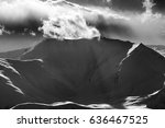 black and white mountains in... | Shutterstock . vector #636467525
