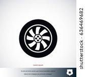 wheel vector icon  flat design...   Shutterstock .eps vector #636469682