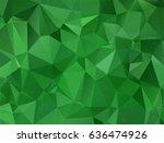 abstract green modern polygon... | Shutterstock .eps vector #636474926