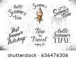 set of summer hand made... | Shutterstock .eps vector #636476306