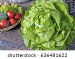 green salad | Shutterstock . vector #636481622