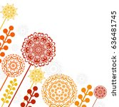 floral patterns and mandalas | Shutterstock .eps vector #636481745