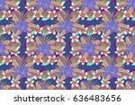vintage raster floral.   Shutterstock . vector #636483656