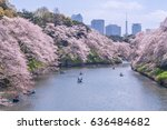 the landscape in spring of... | Shutterstock . vector #636484682