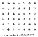 holiday icons | Shutterstock .eps vector #636485276