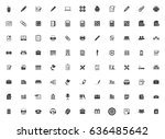 office icons | Shutterstock .eps vector #636485642