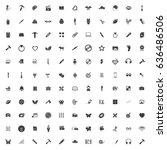 art icons set | Shutterstock .eps vector #636486506