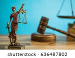 law and justice concept | Shutterstock . vector #636487802