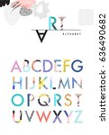creative artistic alphabet ... | Shutterstock .eps vector #636490682