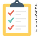 checklist vector icon   Shutterstock .eps vector #636492536