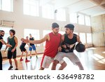 portrait of basketball players... | Shutterstock . vector #636498782